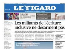 Le Figaro daté du 07 septembre 2018