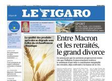 Le Figaro daté du 31 août 2018