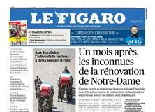 Le Figaro daté du 15 mai 2019