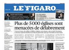 Le Figaro daté du 25 avril 2019