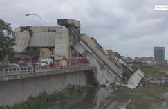 Gênes : des premières images des secouristes sur le viaduc