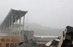 Gênes : les images de l'effondrement du viaduc