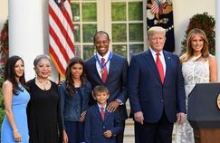 Tiger Woods, décoré par Donald Trump