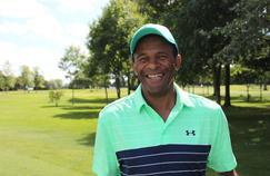 Eric Houballah, longdriver-golfeur à la Coupe de France de Dinan – La Corbinais