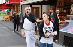 Plusieurs dizaines d'actions antispécistes organisées devant des boucheries