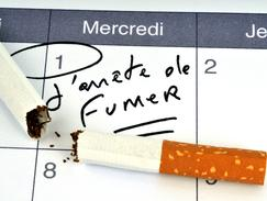 Illustration cigarette coupée calendrier