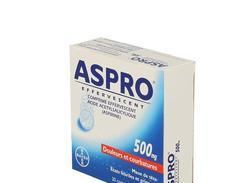 Aspro 500 effervescent, comprimé effervescent, étui de 20