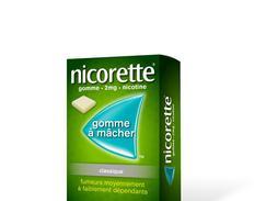 Nicorette 2 mg sans sucre, gomme à mâcher médicamenteuse édulcorée au sorbitol, boîte de 30