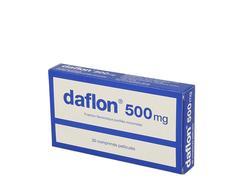 Daflon 500 mg, comprimé pelliculé, boîte de 30
