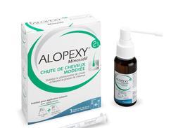 Alopexy 2 %, solution pour application cutanée, boîte de 3 flacons (pet)(+pipette + pompe doseuse avec appl.) de 60 ml