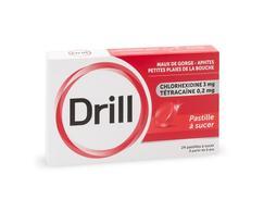 Drill, pastille à sucer, boîte de 24