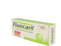 Fluocaril bi-fluore 250 mg menthe, pâte dentifrice, boîte de 2 tubes de 125 ml