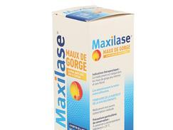Maxilase maux de gorge alpha-amylase 200 u.ceip/ml, sirop, flacon de 125 ml