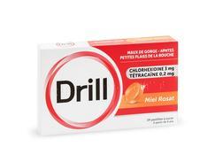 Drill miel rosat, pastille à sucer, boîte de 24