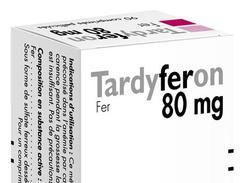 Tardyferon 80 mg, comprimé pelliculé, boîte de 90