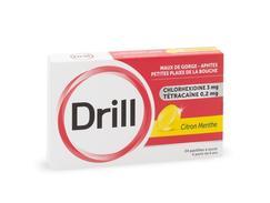 Drill citron menthe, pastille, boîte de 24