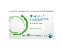 Dacudoses solution ophtalmique boîte de 16 récipients unidoses de 10 ml