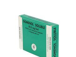 Gomenol soluble 82,5 mg/5 ml, solution pour inhalation par nébuliseur en ampoule, boîte de 5 ampoules de 5 ml