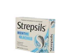 Strepsils menthe glaciale, pastille à sucer, boîte de 24