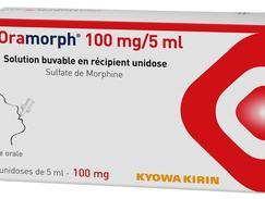 Oramorph cent (100) mg/cinq (5) ml solution buvable boîte de dix (10) récipients unidoses de cinq (5) ml