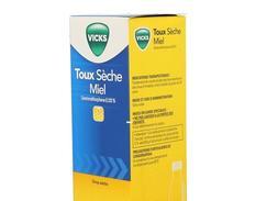 Vicks 0,133 % adultes toux seche miel, sirop, flacon de 180 ml