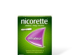 Nicorette inhaleur 10 mg inhalation buccale boîte de 6 tampons en cartouche