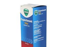 Vicks expectorant guaifenesine 1,33 % adultes miel, sirop, flacon de 180 ml