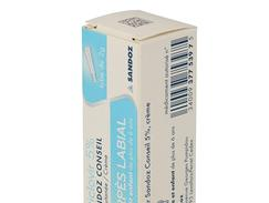 Aciclovir sandoz conseil 5 %, crème, tube de 2 g