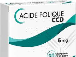 Acide folique ccd 5 mg, comprimé, boîte de 90