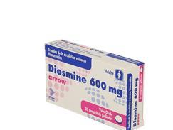 Diosmine arrow 600 mg, comprimé pelliculé, boîte de 30