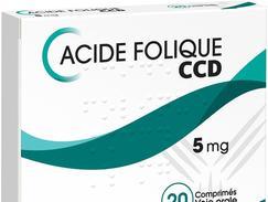 Acide folique ccd 5 mg, comprimé, boîte de 500