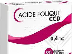 Acide folique ccd 0,4 mg, comprimé, boîte de 90