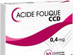 Acide folique ccd 0,4 mg, comprimé, boîte de 30