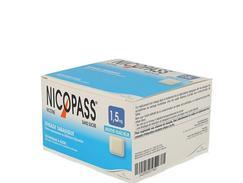 Nicopass 1,5 mg sans sucre menthe fraicheur, pastille édulcorée à l'aspartam et à l'acésulfame potassique, boîte de 2 plaquettes thermoformées de 6