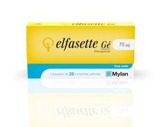 Elfasette 75 microgrammes, comprimé pelliculé, boîte de 1 plaquette de 28