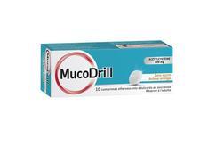Mucodrill 600 mg sans sucre, comprimé effervescent édulcoré au sucralose, boîte de 1 tube de 10