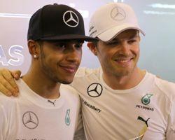Hamilton et Rosberg (Mercedes)