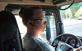 Truckerin auf Probe