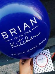 Restaurant Brian is in the kitchen