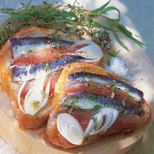 filets de sardine marin s une recette tartines cuisine. Black Bedroom Furniture Sets. Home Design Ideas
