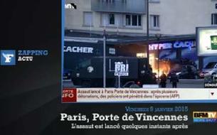 Prise d'otages à Paris et Dammartin : les images des deux assauts simultanés