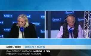 Jean-Pierre Elkabbach à Marine Le Pen : «Vous n'avez pas honte ?»
