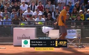 Rome - Kyrgios pète les plombs avant d'être disqualifié !