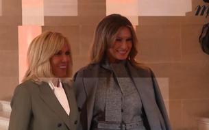Brigitte Macron accueille les épouses et époux des dirigeants invités aux commémorations du 11 novembre