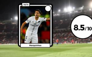 Les notes des Parisiens à Manchester : Marquinhos éteint Pogba, Thiago Silva en patron