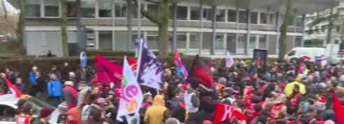 Grèvecontre la réforme des retraites: manifestation à Rennes