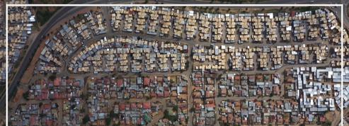 En Afrique du Sud, Johannesburg confinée, déserte et vue du ciel