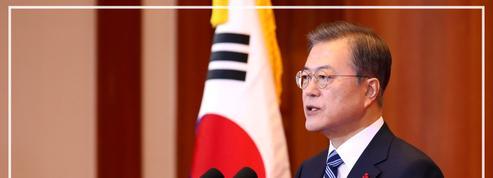 Corée: au sud, Moon relance l'idée d'une visite de Kim Jong Un à Séoul