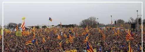 L'indépendantiste catalan Carles Puigdemont en meeting à Perpignan