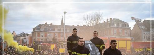 Les pompiers défilent à Strasbourg contre les agressions dont ils sont victimes